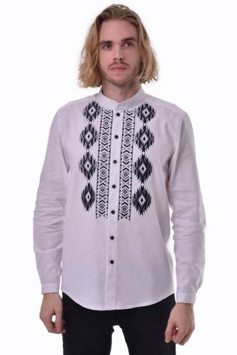 """Мужская рубашка """"Звага"""" белая"""