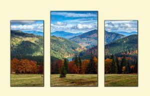 Модульные картины Карпаты осенью №1