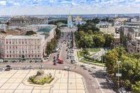 Вид с колокольни Софийского собора. Киев