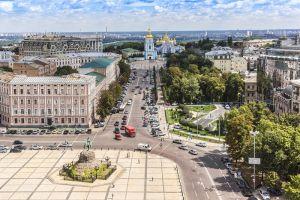 Фотокартини Вид з дзвіниці Софійського собору. Київ