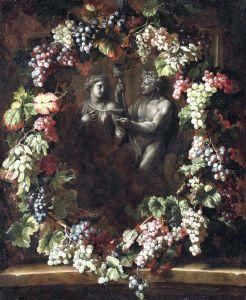 Депорт Александр Франсуа Венок из винограда, окружающий статуи Вакха и Цереры