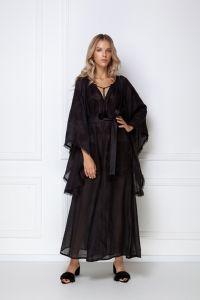 Одежда из льна «Виктори» черноге платье-макси