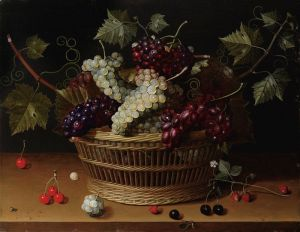 Соро Исаак Натюрморт с корзиной винограда на столе