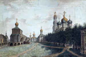 Алексеев Фёдор Соборная площадь в Московском Кремле