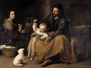 Святое семейство с маленькой птицей