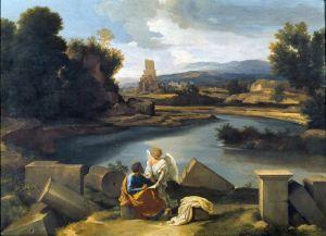Пуссен Никола Пейзаж со св.Матвеем и ангелом