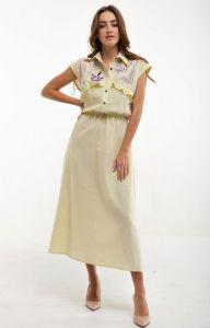 Женские вышиванки Платье вышитое Соцветие желтое