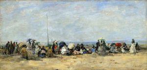 Буден Эжен Пляжный пейзаж, Трувиль