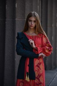 "2KOLYORY Платье вышитое ""Muza"" марсала"
