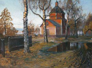Гермашев Михаил Пейзаж с церковью