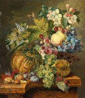Натюрморт с фруктами на каменном выступе №2