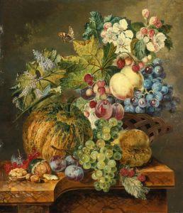 Линдхорст Якобус Натюрморт с фруктами на каменном выступе №2