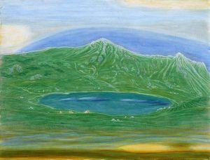 Модерн Озеро Рой, сине-зеленый