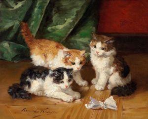 Брюнель де Нёвиль Альфред-Артур Three Kittens Playing