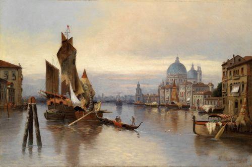 Венецианские сцены с видом Санта-Мария-делла