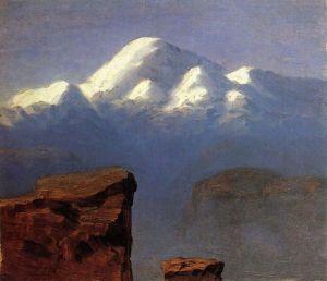 Куинджи Архип Вершина Эльбруса, освещенная солнцем