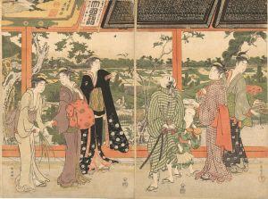 Восточная живопись Відвідування храму №2