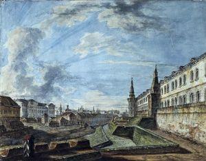 Алексеев Фёдор Вид Москвы от Троицких ворот Кремля