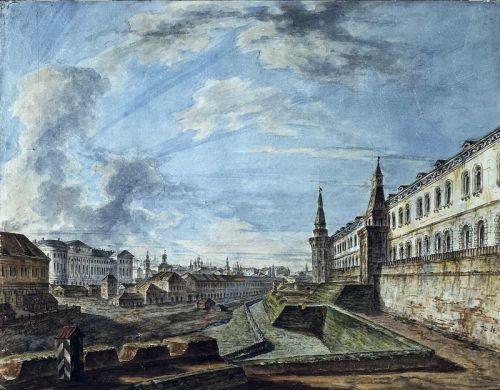 Вид Москвы от Троицких ворот Кремля