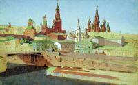 Вид на Москворецкий мост, Кремль и храм Василия Блаженного