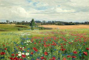 Брендекильде Ганс Андерсен Поле с маками и полевыми цветами