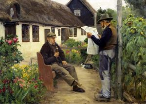 Брендекильде Ганс Андерсен Во время чтения газеты