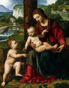 Возрождение Мадонна с младенцем и юным Иоанном Крестителем
