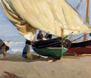Соролья Хоакин Рыбацкие лодки на побережье Валенсии