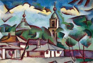 Авангард Пейзаж с церковью