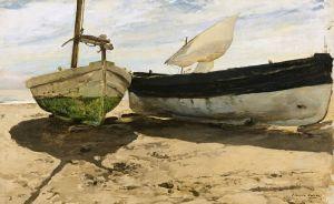 Соролья Хоакин Рыбацкие лодки в Валенсии
