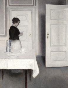 Хаммерсхей Вильгельм Ида, читающая письмо