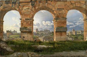Романтизм Вид через три арки третьего этажа Колизея