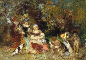 Жінки і діти в лісі
