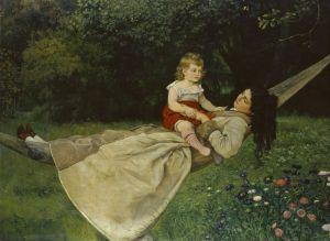 Тома Ганс Женщина с ребенком в гамаке