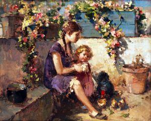 Иролли Винченцо Девочка в саду