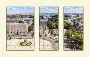 Модульные картины Вид с колокольни Софийского собора. Киев №1
