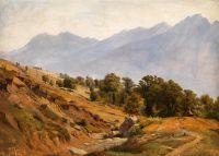 Тирольский горный пейзаж