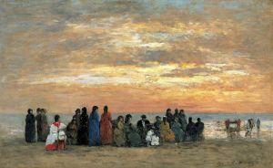 Буден Эжен Фигуры на пляже в Трувиле