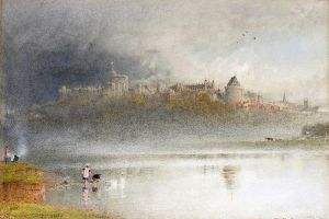 Гудвин Альберт Виндзорский замок, вид из Брокас, Беркшир
