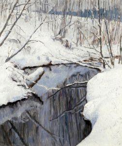 Богданов-Бельский Николай Ручей зимой