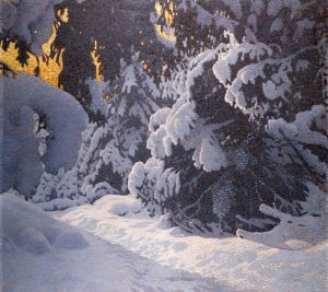 Фьюэстад Гюстав Зимний пейзаж 5