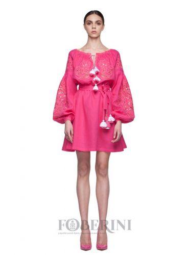 Купити Сукня-вишиванка «Фуксiя» 01056 на UkrainArt 729c7995126f8