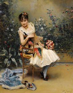 Мадрасо Раймундо Алина Масон с цветами