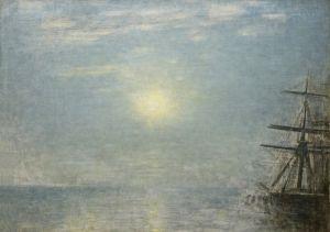 Хаммерсхей Вильгельм Солнце над морем