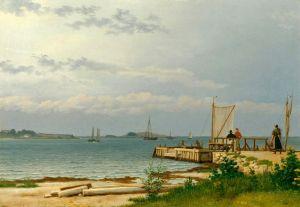 Печатные картины на холсте Вид на Костер от пристани в Каллехаве
