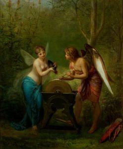 Академізм Амур і фея заточують стріли