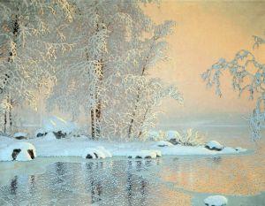 Фьюэстад Гюстав Пейзаж с замерзшим озером
