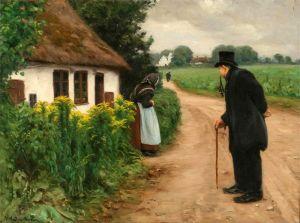 Брендекильде Ганс Андерсен Пожилая пара перед домом