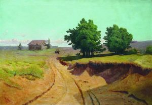 Мещерский Арсений Пейзаж. Дорога в поле