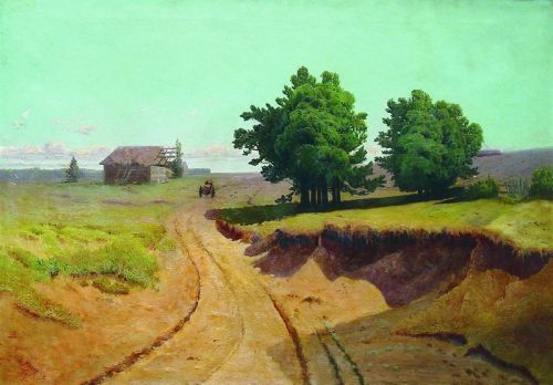 Пейзаж. Дорога в поле